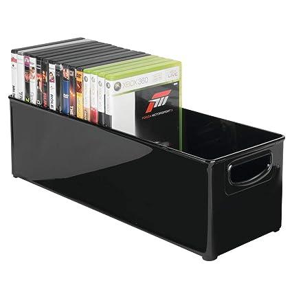 mDesign caja de almacenaje para CDs - Archivador para DVD, CDs o videojuegos - Porta