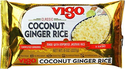 Ginger Rice Vinegar - Vigo Coconut Ginger Rice, 8 Ounce (Pack of 12)