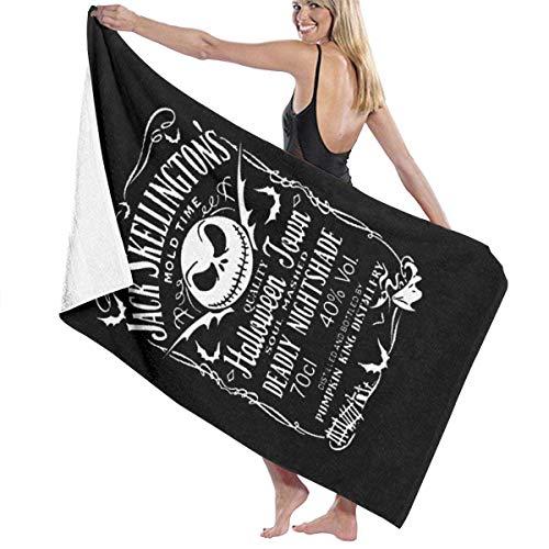 VIMMUCIR Nightmare Before Xmas Pumkin King Distollery Halloween Print Design Microfiber Beach Towel