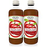 Sinew Nutrition Raw Apple Cider Vinegar (Unfiltered & Unpasteurised) with strand of Mother 500ml (Pack of 2)
