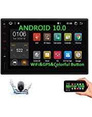 Double Din Android Car Stereo with Bluetooth Radio 7 inch Touch Screen in Dash Car Radio Video Player Android 9.0 2 Din GPS Navigation System Backup Rear Camera Included