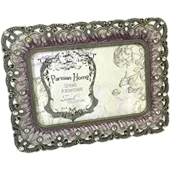 Amazon Com Rhinestone Jeweled Silver Purple 4 X 6