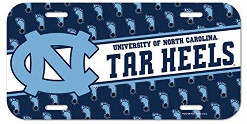WinCraft University of North Carolina UNC Tar Heels NCAA 6 x 12 Inch Plastic License Plate (Heels Plastic Tar License Plate)