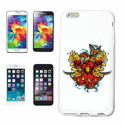 """cas de téléphone iPhone 7S """"COEUR D' AMOUR VALENTINE SKULL MÈRE ANNIVERSAIRE ANNIVERSAIRE DE NOËL LIFESTYLE FASHION STREETWEAR HIPHOP SALSA LEGENDARY"""" Hard Case Cover Téléphone Covers Smart Cover pour"""