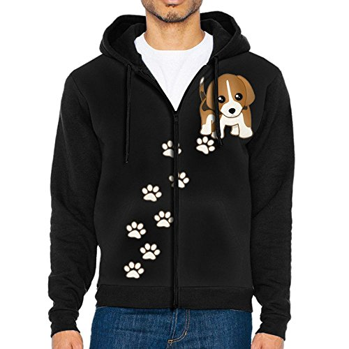 Mars Sight Sweatshirt Men's Beagle Puppy Dog Full Zip Up Hoodie Jacket With Pocket Beagle Dogs Mens Hoodie