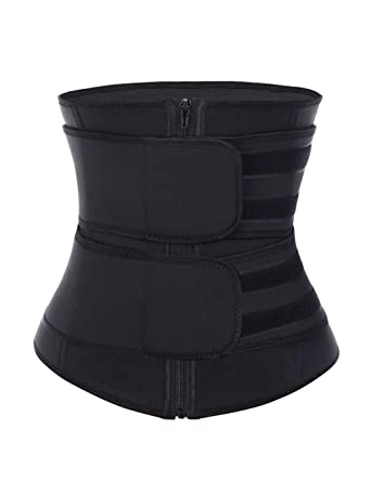 Image result for DANALA Women's Waist Trainer Corset High Compression Waist Cincher Trimmer Belt Zipper Velcro for Weight Loss