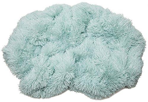 """Chanasya Super Soft Shaggy Hypoallergenic Luxury Chic Fuzzy Faux Fur Warm Elegant Cozy With Fluffy Sherpa Aqua Blue Microfiber Throw Blanket (50\"""" x 65\"""") - Solid Turquoise"""