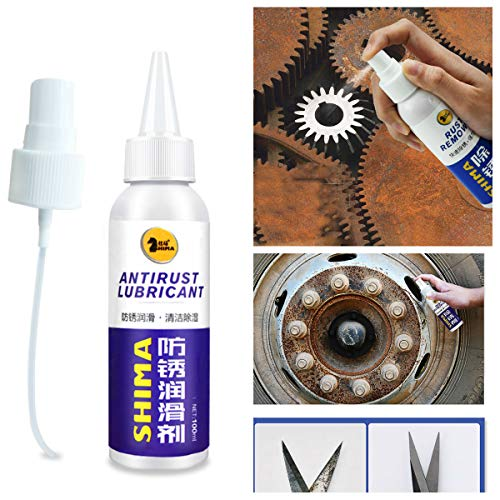 Rust Remover Anti-Rust Lubricant,Metal Surface Chrome Paint Car Maintenance Iron Powder Cleaning Rust Remover(100ml) (Best Anti Rust Paint For Metal)