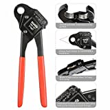 IWISS F1807 PEX Plumbing Crimping Tool for 1/2 INCH & 3/4 INCH Copper Ring Crimper Piler with GO NO GO Gauge and Free Cutter