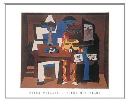 Pablo Picasso Three Musicians Quality Framed Art Print 28 x (Pablo Three Musicians Framed Art)
