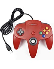 iNNEXT Retro N64 USB Controller N64 Gamepad Joypad para Windows PC MAC Raspberry Pi 3 (Rojo)