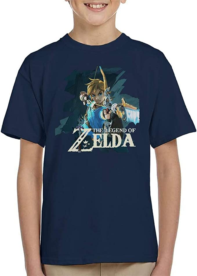 Zelda Breath Of The Wild Link Bow And Arrow Kid S T Shirt
