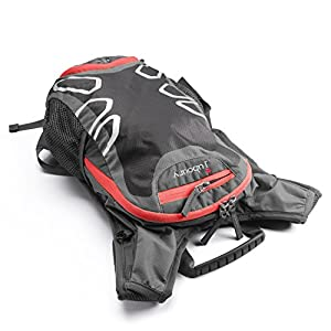 Juboury 15L Hydration Backpack--Hydration Rucksack Bag Includes Free 2L Water Bladder Reservoirs with All Weather Cover for Running, Hiking, Biking, and Any Other Outdoor Sports (Red-black)