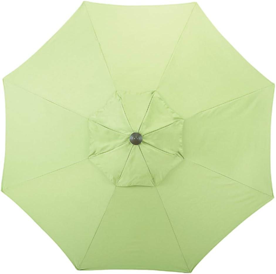 Shadeprotection Patio Umbrella Replacement Canopy for 9 feet 8 Ribs Outdoor Garden Umbrella Sunbrella Umbrella Replacement Canopy Only for 9 Patio Umbrella 8 Ribs Acrylic Sunbrella, Green