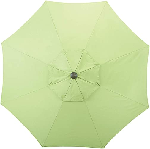 Shadeprotection Patio Umbrella Replacement Canopy for 9 feet 8 Ribs Outdoor Garden Umbrella Sunbrella Umbrella Replacement Canopy Only for 9 Patio Umbrella 8 Ribs Acrylic Sunbrella, Green