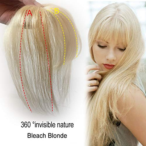 Clip in bangs Human Hair Extensions Invisible Hairpieces for Women