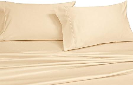 Royal de sólido 300 hilos juego de sábanas para cama 100% algodón ...