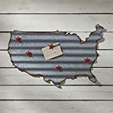 Park Designs Galvanized US Map Memo Board