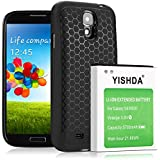 YISHDA 5700mAh Extended Battery for Samsung Galaxy S4 With Extended Back Cover (Included Extended HoneyComb Case & Tempered Glass)