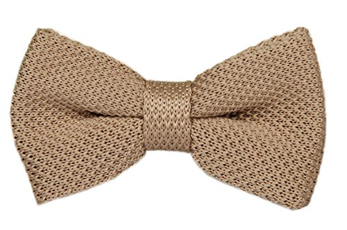Mens Smart Solid Champagne Bow Tie Boys Perfect Wedding Party Bowtie for Grooms