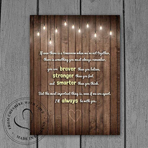 Winnie The Pooh Quote PRINT -