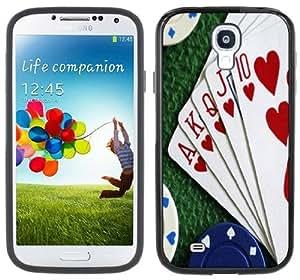 Wishing Royal Flush Poker Handmade Samsung Galaxy S4 Black Bumper Hard Plastic Case