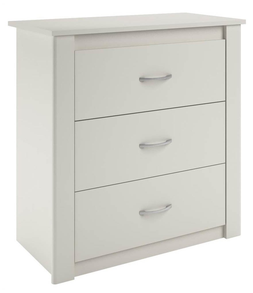 Ameriwood Home Riley 3 Drawer Dresser, White
