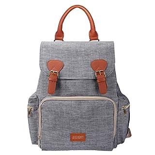 Diaper Bag,Waterproof Baby Diaper Backpack for Baby Care (Grey)