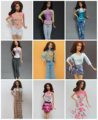 [HelloJoy Lot 5 PCS Fashion Handmade Clothes outfits for Barbie Doll XMAS GIFT] (Barbie Halloween Outfit)