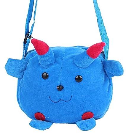 Envie Faux Fur Blue Coloured Zipper Closure Sling Bag  Amazon.in  Shoes    Handbags 0c4ae7f4cbd3f