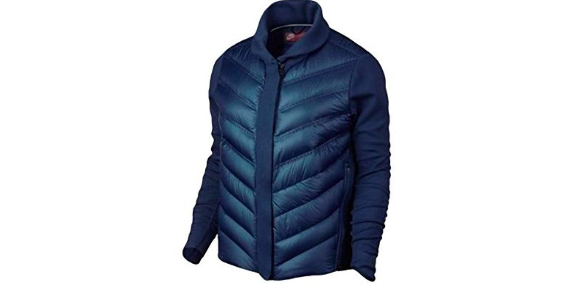 Women's Nike Tech Fleece Aeroloft Bomber Jacket Blue Navy 804982-423 (M)
