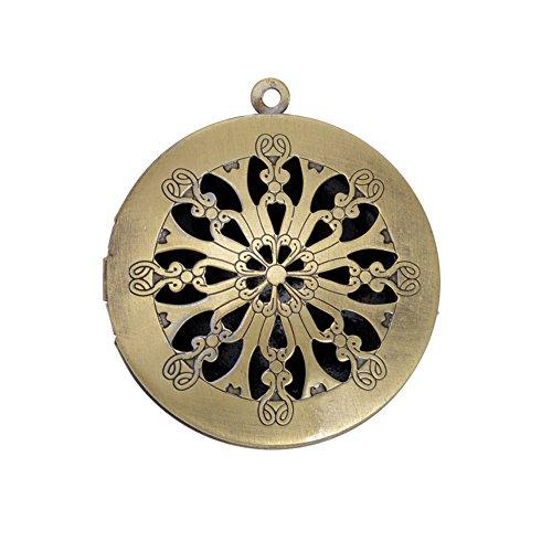 10pcs Antique Bronze Vintage Brass Memory Photo Locket Pendant Jewelry Accessories
