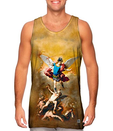 Yizzam- Luca Giordano - Luca Fallen Angels (1666) -Tshirt- Mens Tank Top -Medium