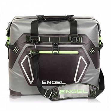 Engel 30-Liter Waterproof Soft-Sided Cooler, Gray and Green (ENGTPU-GREEN)