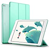 iPad Air 2 Case, ESR Smart Case Cover [Synthetic Leather] Translucent Frosted Back Magnetic Cover with Auto Sleep/Wake Function [Ultra Slim][Light Weight] (Mint Green)