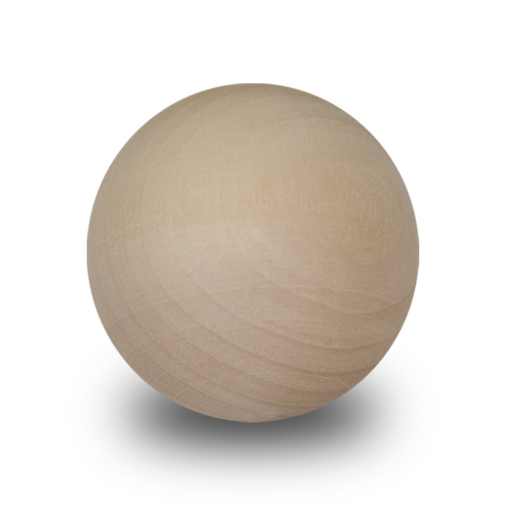 Wood Round Ball 2 inch - Bag of 10 Craftparts Direct RB200010