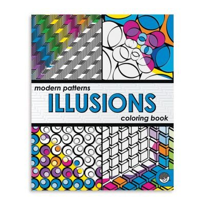 Modern Patterns Illusions Coloring Book