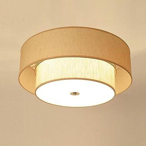 Retro Plafones Moderna lámpara de techo Oro Colores Tela ...