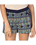 Miss Me Women's Macrame Print Navy Shorts Navy Small