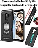 Galaxy S9 Plus Case - S9 Plus Case: Samsung Galaxy S9 Plus with Card Holder - Magnetic Back for Car Mount and Card Slot for Bank Or Id Cards Perfect for Samsung Galaxy 9s Plus Phone (Black)