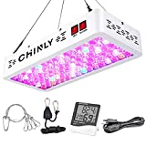 LED Grow Light Full Spectrum 1000W,High Power Grow Light with Thermometer Humidity Monitor,with Adjustable Hanger,Full Spectrum Double Switch Plant Light for Indoor Plants Veg Seedling and Flower