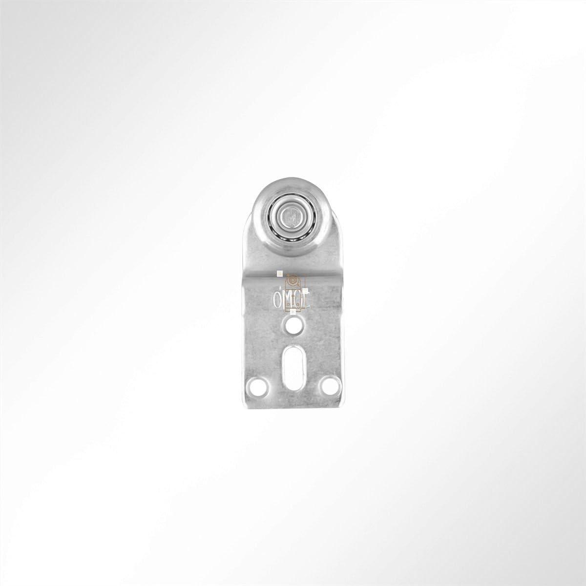 LYSEL Laufrolle F/ührungsrollen Laufwagen Rollenlaufwerk mit versetzter Platte Kugellager 35 Kg Laufschiene 10 St/ück