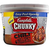 Campbell's Chunky Chili, Hot & Spicy Bean Firehouse, 15.25 Ounce (Pack of 8)
