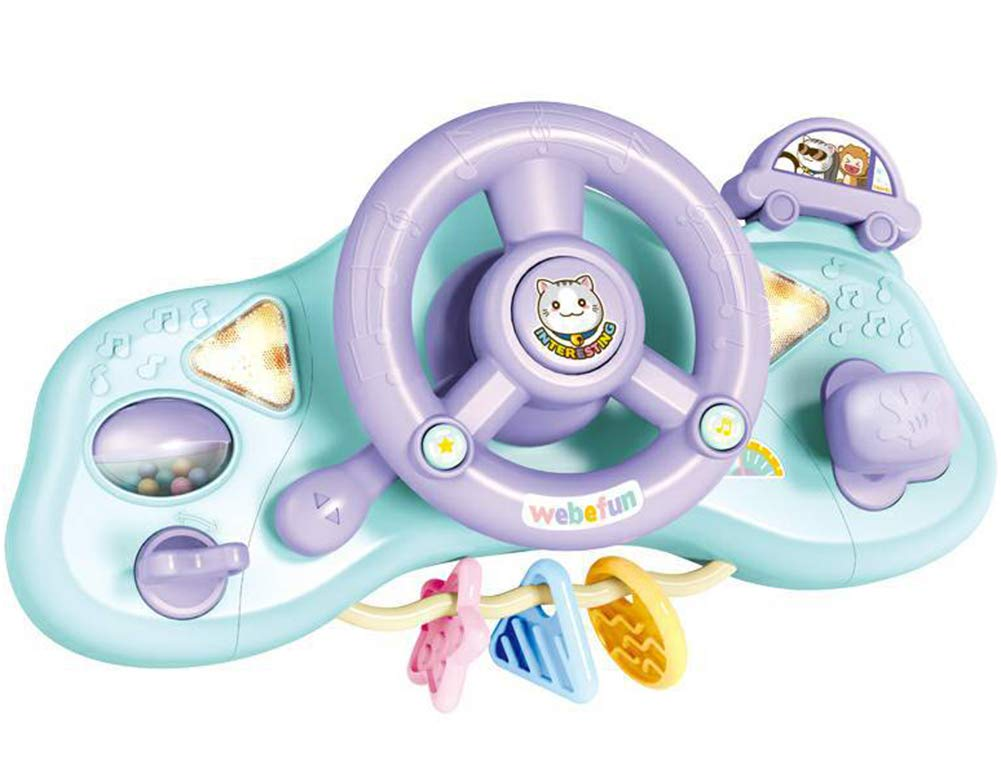 Kids Driving Steering Wheel with Lights, Music and Sound Educational Toy Baby Driver
