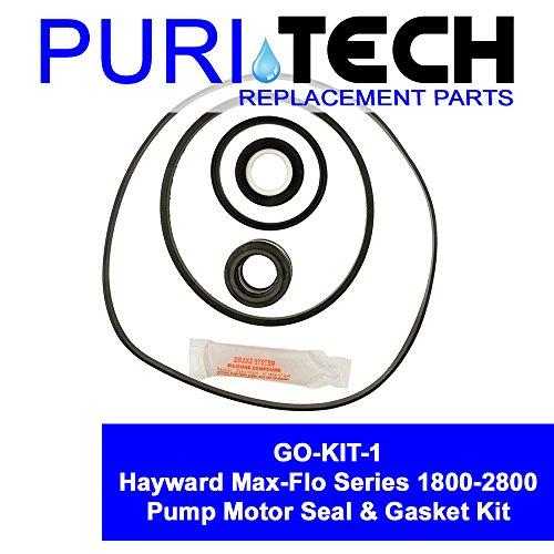 PuriTech Pool Motor Seal & Gasket Kit GO KIT for Hayward Max-Flo Series Pumps 1800-2800