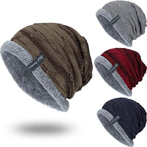 529cfed188f4 World 2 home Fashion Boys Men Winter Hat Knit Scarf Cap Men Caps Warm Fur  Skullies Beanie Bonnet Hat Fleece dad Cap Wool Hat Knitting  Amazon.in   Clothing   ...