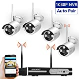 Wireless Security Camera System,SMONET 4CH 1080P Video Security System,4pcs...