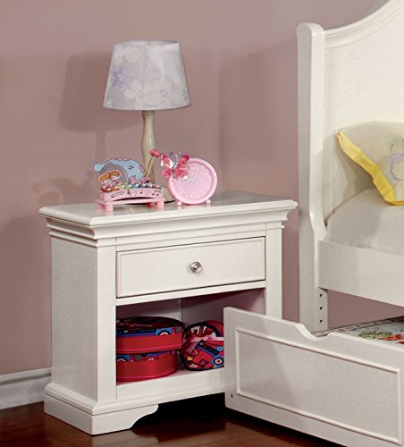 Furniture of America Maggie Transitional Youth Nightstand, White by HOMES: Inside + Out