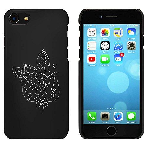 Noir 'Feuilles' étui / housse pour iPhone 7 (MC00069227)