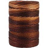 Iris 18-483 Nylon Crochet Thread, 197-Yard, Brown Mix